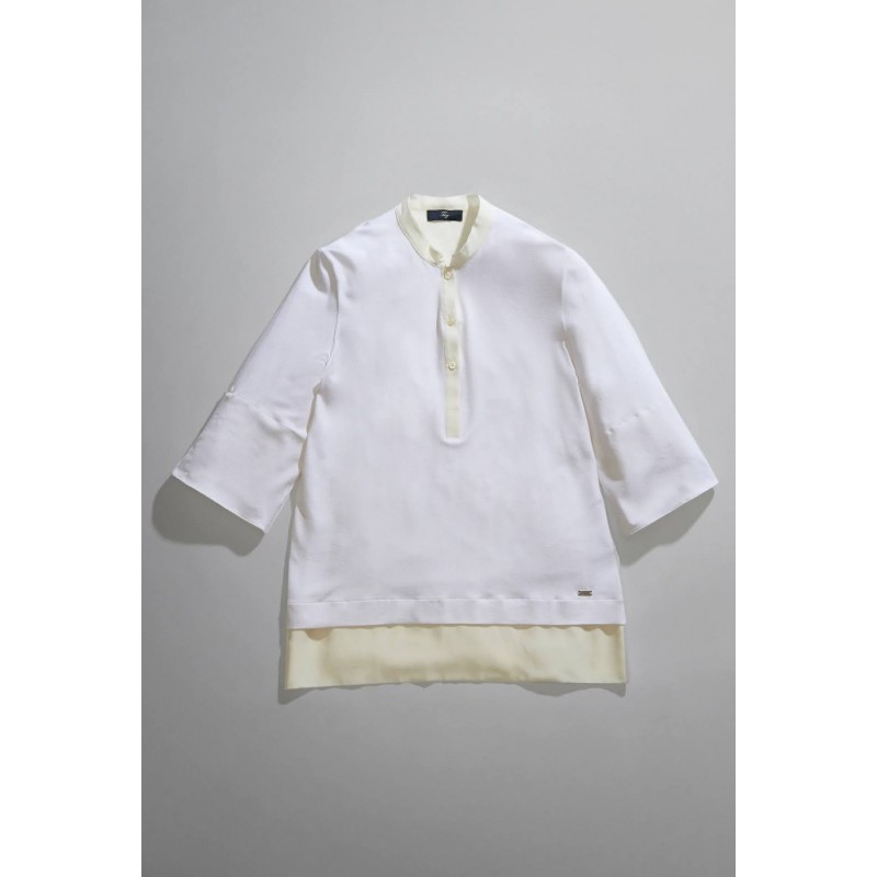 FAY - Polo in jersey - Bianco