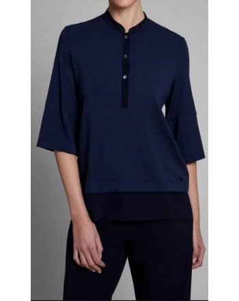 FAY - Jersey polo shirt - Navy Blue