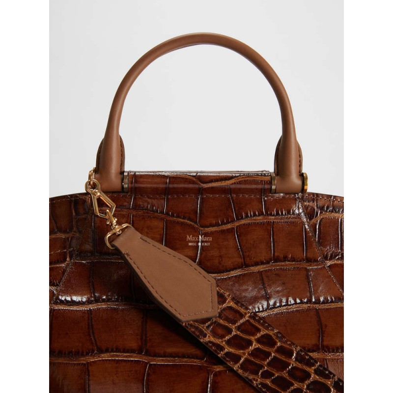 MAX MARA - Crocodile print leather bag - Leather