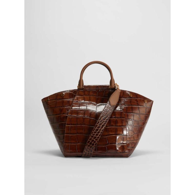 MAX MARA - Crocodile print leather bag - Leather -