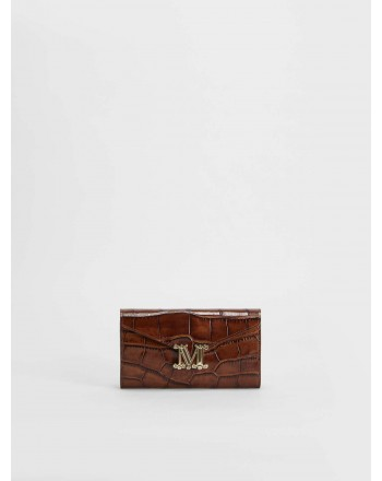 MAX MARA - Crocodile print leather wallet  - leather  -