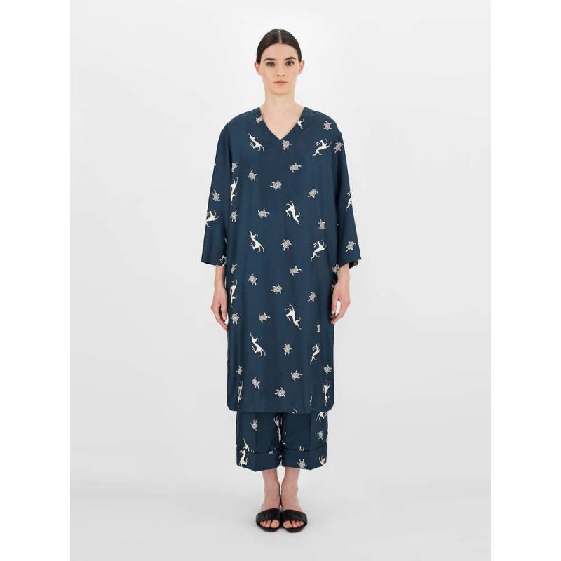 S.MAX MARA - Silk dress - Blue