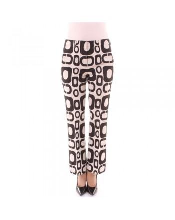 S MAX MARA - Rivolo cotton trousers - White/black -