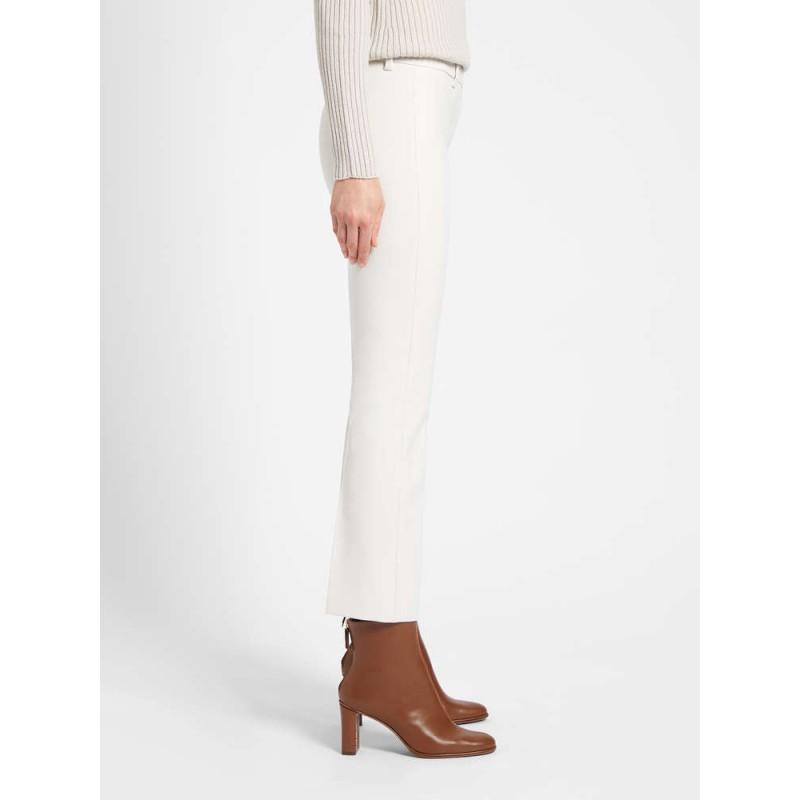 S MAX MARA - Pantaloni in cotone e viscosa - Bianco -