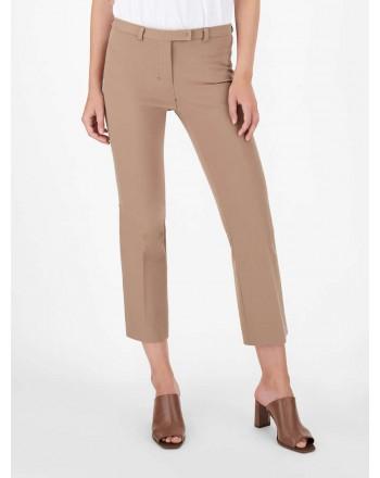 S MAX MARA - Pantaloni in cotone e viscosa - Cammello -