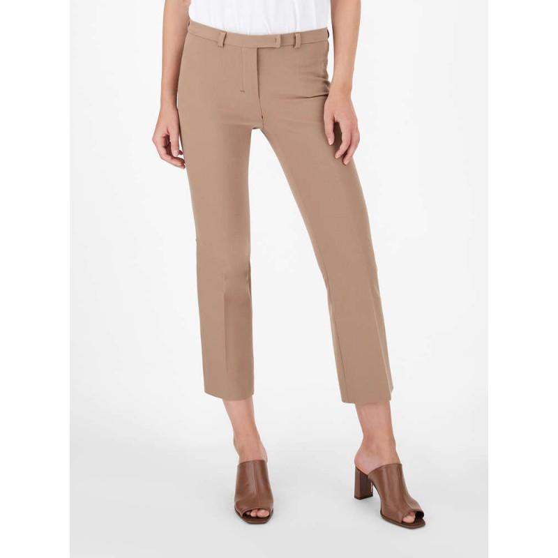 S MAX MARA - Pantaloni in cotone e viscosa - Camel -