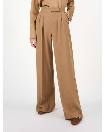 MAX MARA - Gabardine trousers - Camel