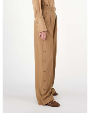 MAX MARA - Pantaloni in gabardina - Cammello