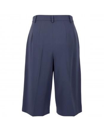 MAX MARA STUDIO -REDY Triacetate Bermuda Shorts - Blue