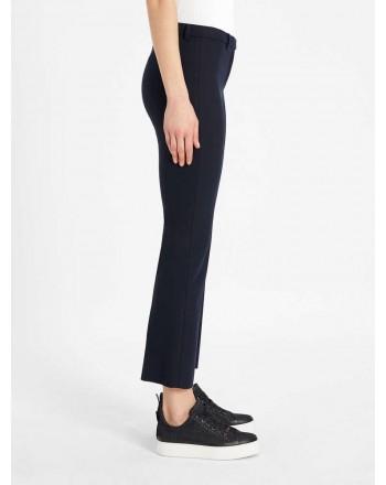 S MAX MARA - Pantaloni in cotone e viscosa - Blu scuro -