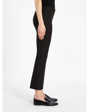 S MAX MARA - Pantaloni in cotone e viscosa - Nero -