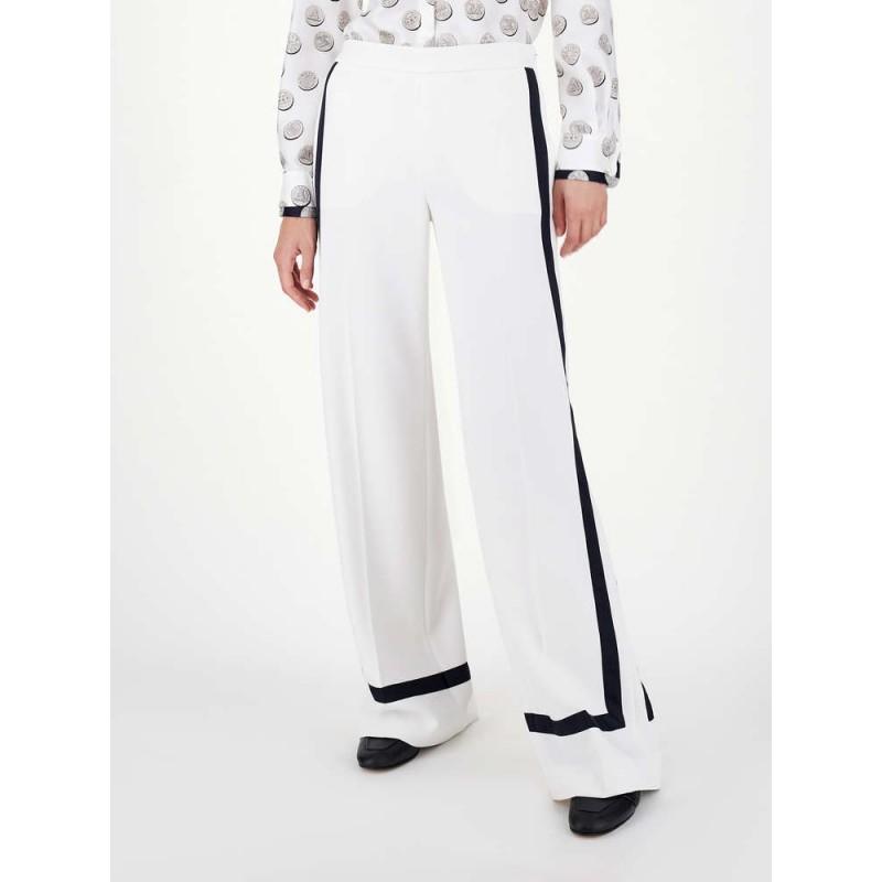 MAX MARA - Cady trousers - White Silk