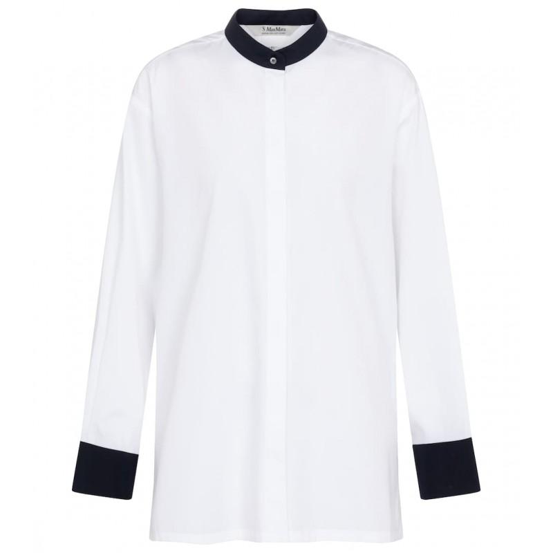 S MAX MARA - Camicia di cotone - Bianca -
