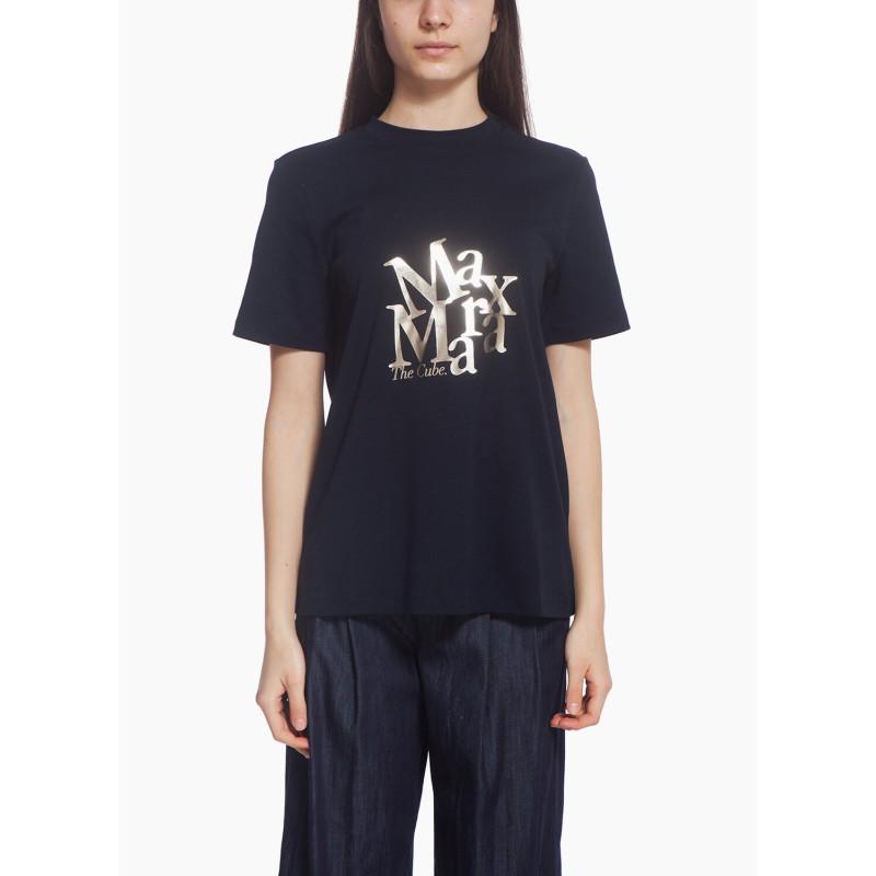 S MAX MARA - T-shirt in jersey di cotone - Blu -