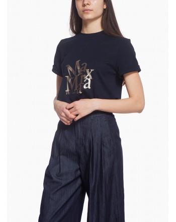 S MAX MARA - Cotton jersey T-shirt- Blue