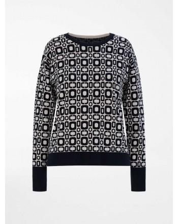 S MAX MARA - Viscose yarn sweater - Black / Ivory -