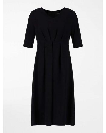 S MAX MARA - Viscose cady dress - Black