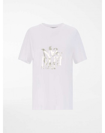 S MAX MARA - T-shirt in jersey di cotone - Bianco -