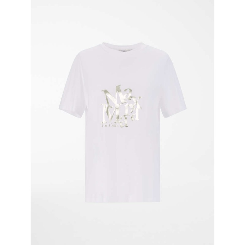 S MAX MARA - Cotton jersey T-shirt- White