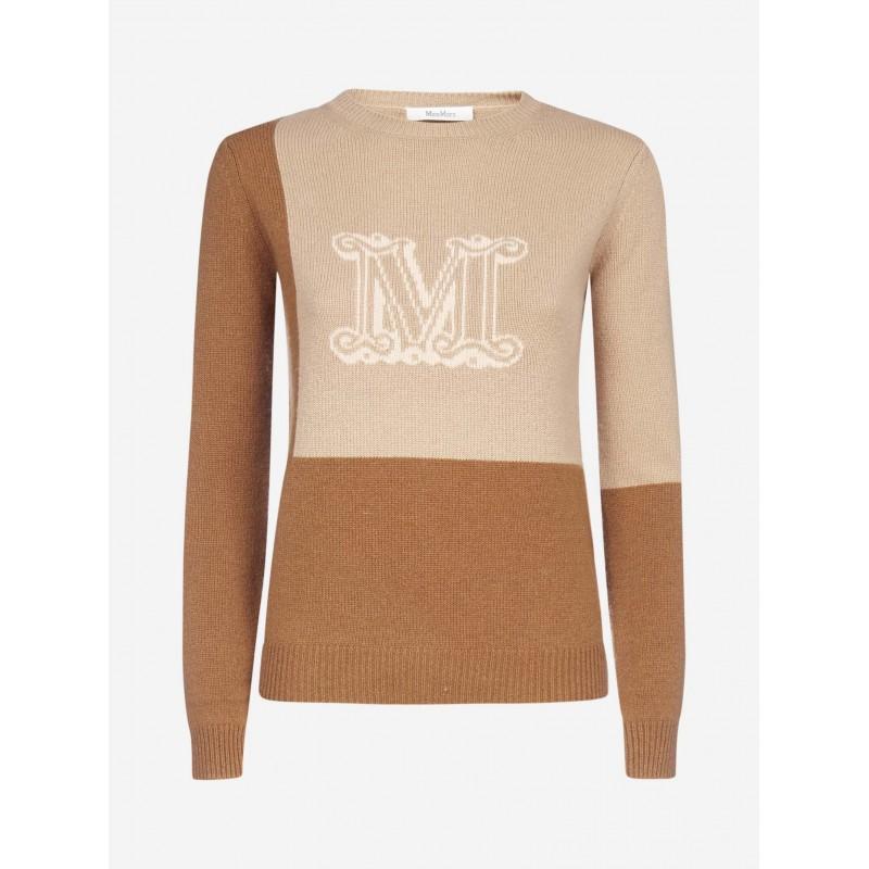 MAX MARA - CAIMANO Cashmere Cloth Knit - Caramel/Camel/Powder