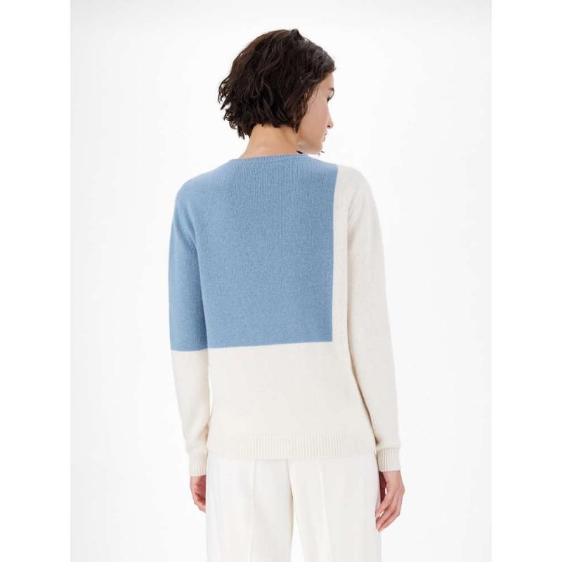 MAX MARA - CAIMANO Cashmere Cloth Knit - Ivory/Green/Black