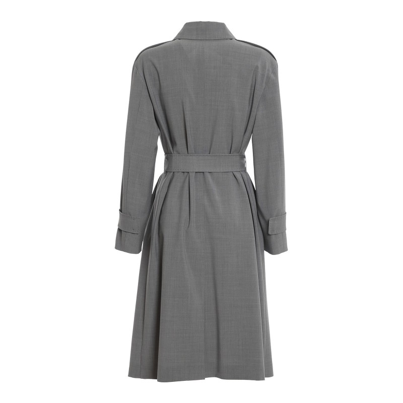 MAX MARA STUDIO - BONDENO Wool Dust Coat - Blended Grey