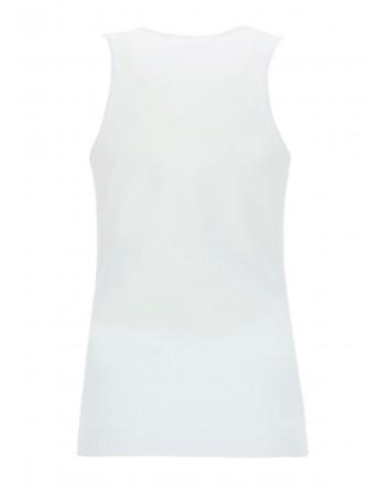 LOVE MOSCHINO-  Canotta con Stampa Logo Multicolor - Bianco
