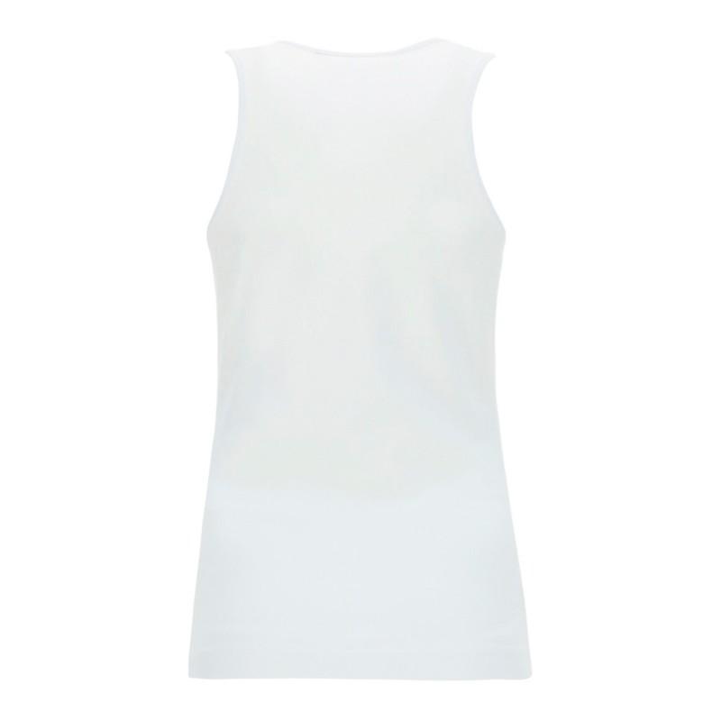 LOVE MOSCHINO-Multicolor Logo Printed Tank Top - White