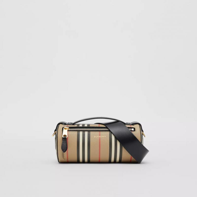 BURBERRY - BARREL Canvas Bag- Archive Beige