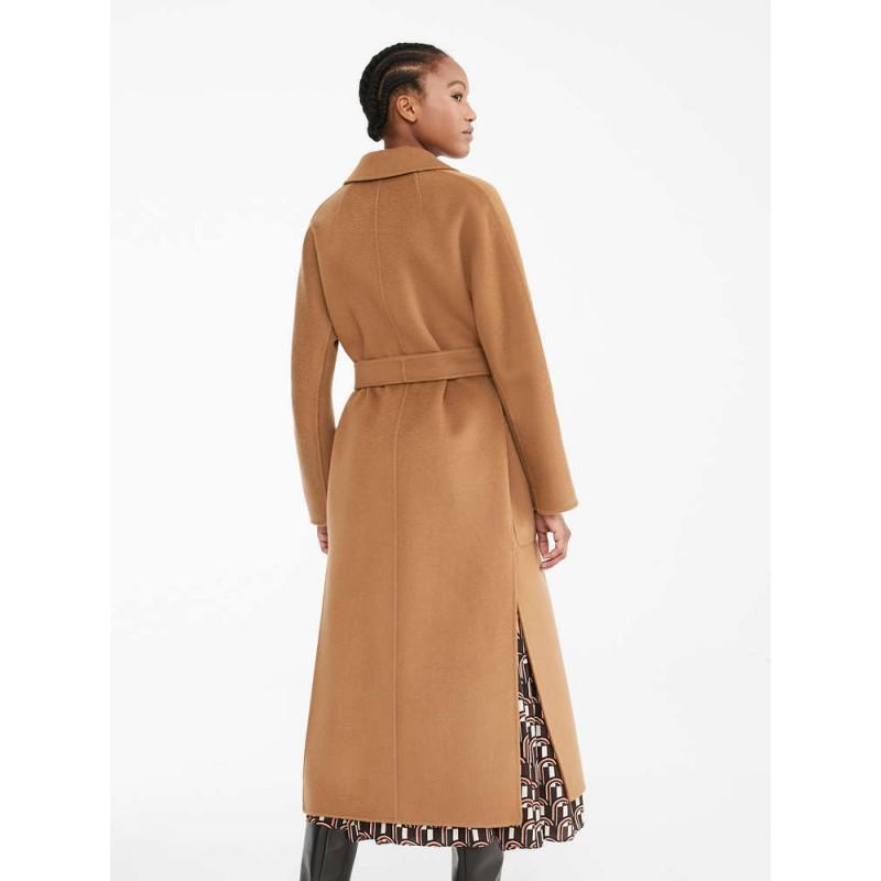 S MAX MARA - Cappotto Lungo in Lana e Cashmere AMORE -Leather