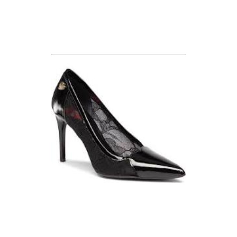 LOVE MOSCHINO - Glossy Lace Pumps - Black