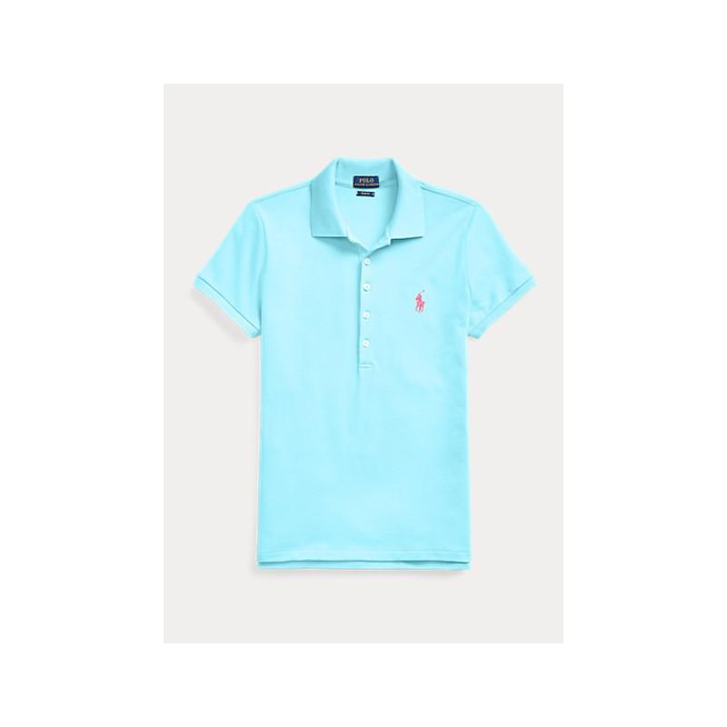 POLO RALPH LAUREN  - Basic 2-Button Polo Shirt - Turquoise -