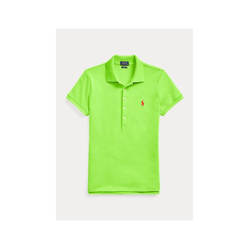 POLO RALPH LAUREN  -  Polo Basic 5 Bottoni - Verde Lime -