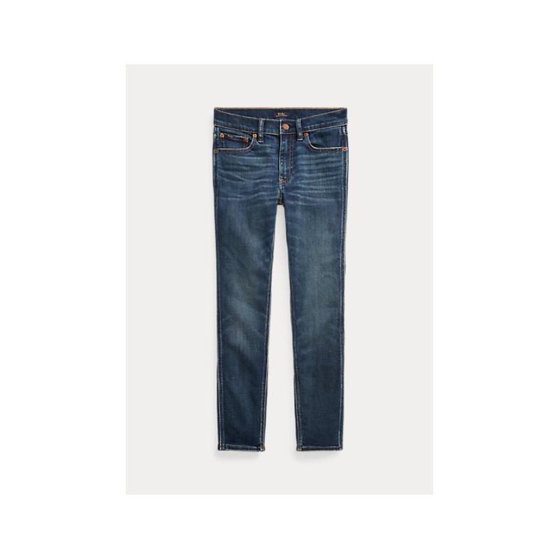 POLO RALPH LAUREN  - Jeans Corto Tompkins skinny - Dark Indigo