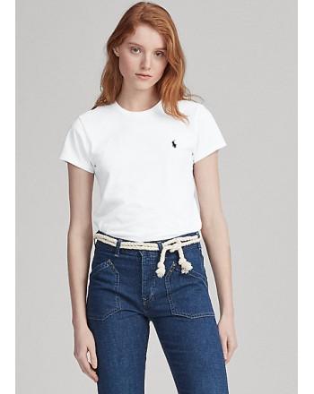 POLO RALPH LAUREN  - T-Shirt in jersey Custom Slim - Bianco -