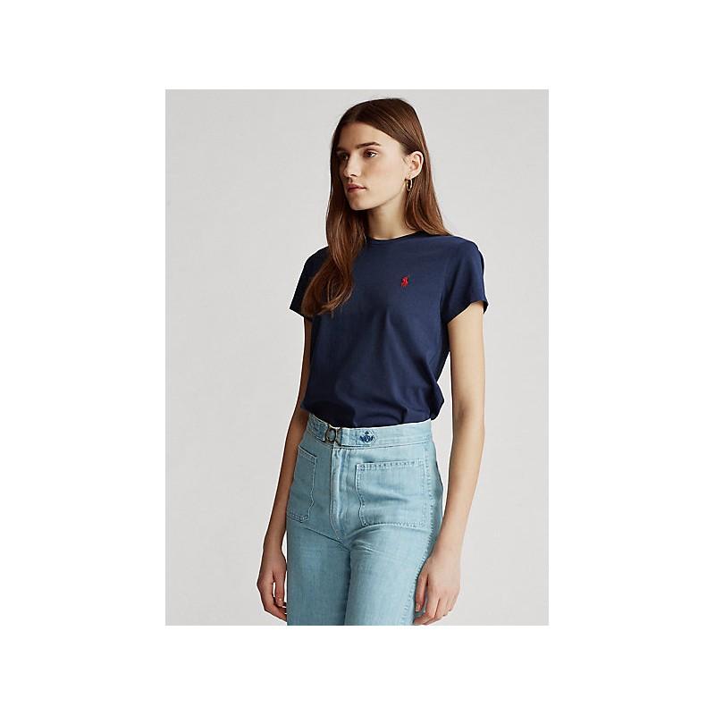 POLO RALPH LAUREN  - T-Shirt in jersey Custom Slim - Blu -