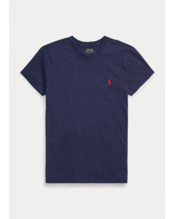 POLO RALPH LAUREN  - T-Shirt Custom Slim Basic - Blue -