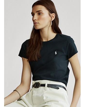POLO RALPH LAUREN  - T-Shirt in jersey Custom Slim - Nero -