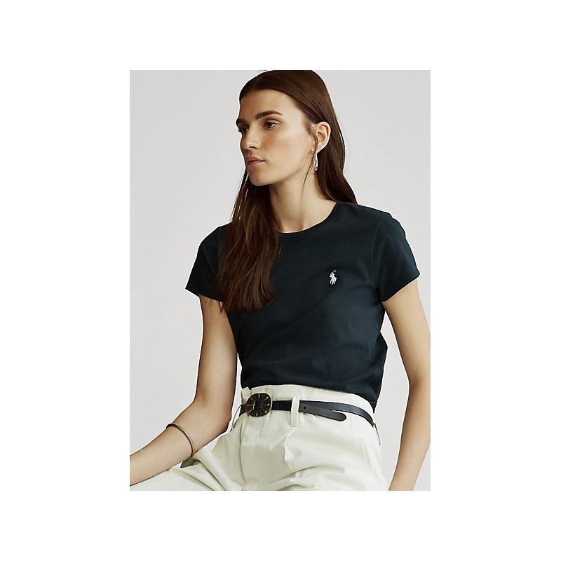 POLO RALPH LAUREN  - T-Shirt Custom Slim Basic - Black -