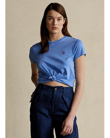 POLO RALPH LAUREN  - T-Shirt Custom Slim Basic - Harbor Island -