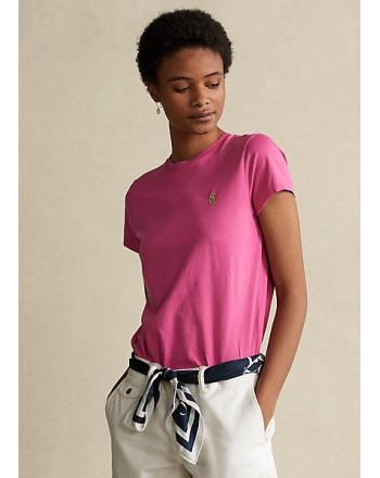 POLO RALPH LAUREN  - T-Shirt Custom Slim Basic - Peonia Pink