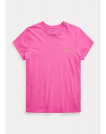 POLO RALPH LAUREN  - T-Shirt in jersey Custom Slim - Rosa Peonia -