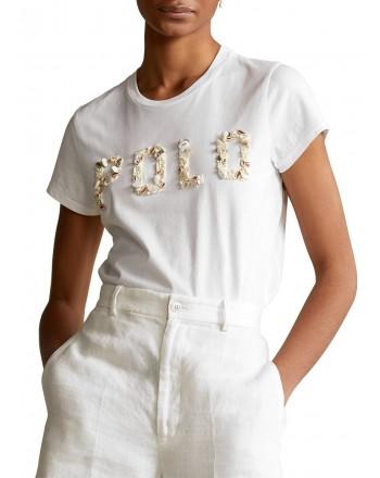 POLO RALPH LAUREN  - T-Shirt in jersey con Conchiglie - Bianco -