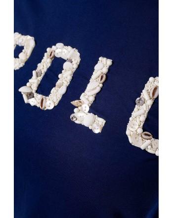 POLO RALPH LAUREN  - T-Shirt  With Shells - Blue  -