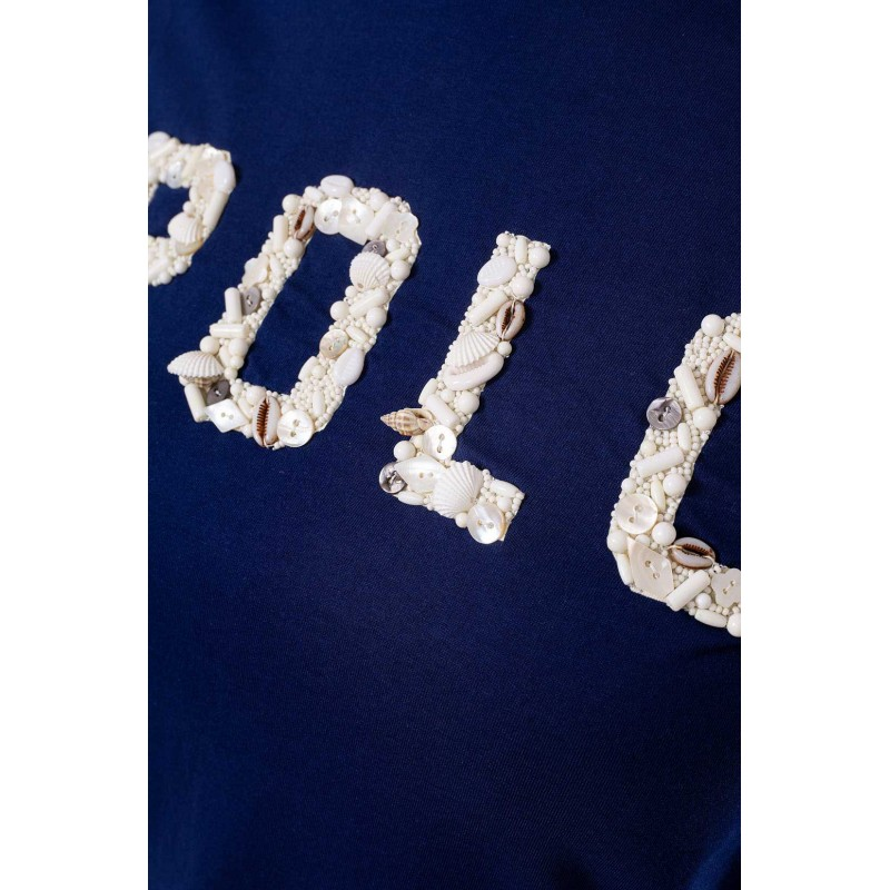 POLO RALPH LAUREN  - T-Shirt in jersey con Conchiglie - Blu -