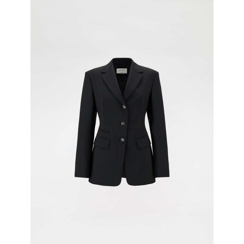 SPORTMAX - Blazer in lana stretch - Nero