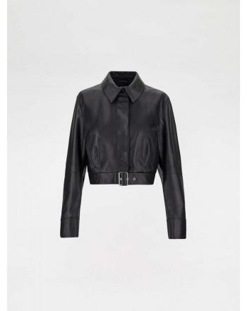 SPORTMAX - Biker jacket in nappa -Nero