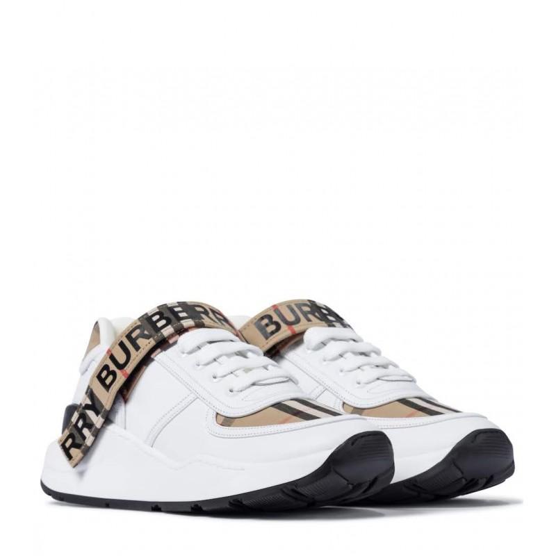 BURBERRY - Sneaker con motivo Vintage check - Achive Beige