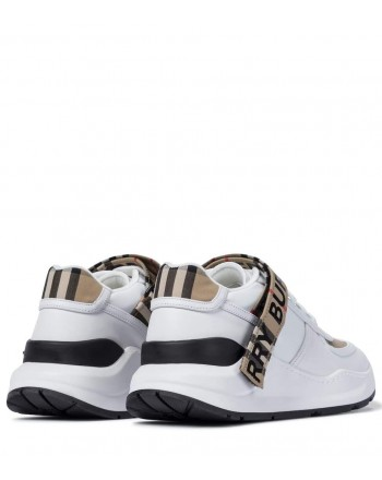 BURBERRY - Vintage check sneaker - Achive Beige