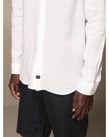 FAY - Camicia collo francese - Bianco -